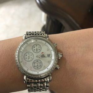 Michele CSX Diamond Chronograph-stainless round